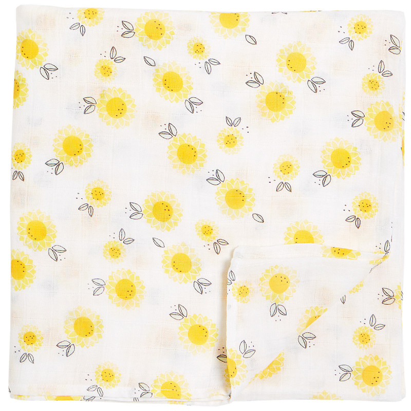 Petit Lem - Swaddle Blanket - Sunflowers