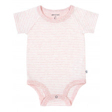 Petit Lem - Essentials Organic Cotton Onesie - Pink Stripes