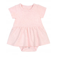 Petit Lem - Essential Peplum Dress - Heather Pink