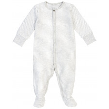 Petit Lem - Essentials Organic Cotton Sleeper - Grey Stripes
