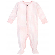 Petit Lem - Essentials Organic Cotton Sleeper - Pink Stripes