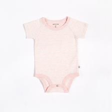 Petit Lem - Essentials Organic Cotton Onesie - Pink Stripes