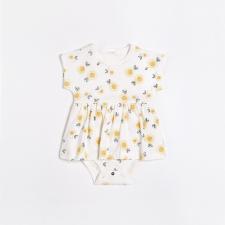 Petit Lem - Peplum Dress - Sunflowers