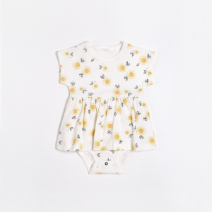 Petit Lem - Peplum Dress - Sunflowers
