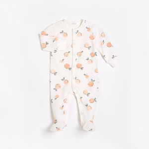 Petit Lem - Organic Cotton Sleeper - Peaches