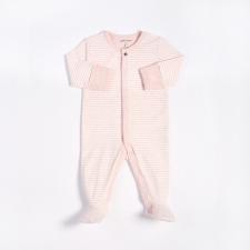 Petit Lem - Essentials Organic Cotton Sleeper - Pink Stripes