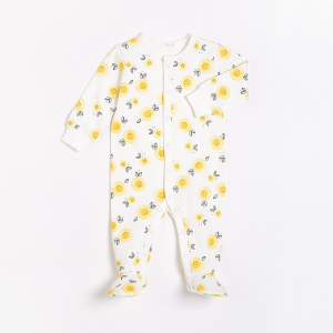 Petit Lem - Organic Cotton Sleeper - Sunflowers