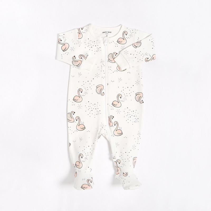 Petit Lem - Organic Cotton Sleeper - Swans