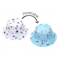 FlapJackKids - Reversible Sun Hat - Nautical - S (6m-2y)