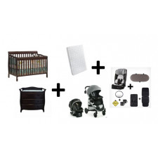 COMBO DIONO - Convertible Crib + Changing Table + Mattress + Stroller + Car seat + Convertible Car Seat