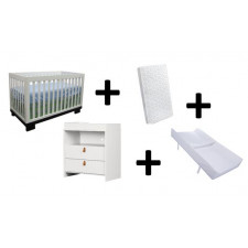 COMBO METRO - Convertible crib + Balka dresser + Mattress + Changing Mattress