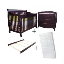 COMBO NAPLES - Convertible Crib + Change Table + Conversion Kit + Mattress