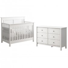 College Woodwork - Offspring - Hampton 3 in 1 Convertible Crib + Double Dresser