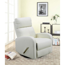Benjamin Stroller - Charleston Swivel Glider Recliner - White