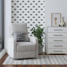Benjamin - 8891 Electric Rocking Chair - Grey Fabric