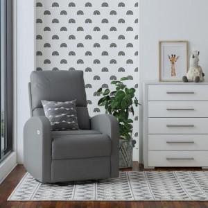 Benjamin - 8891 Electric Rocking Chair - Grey Leather