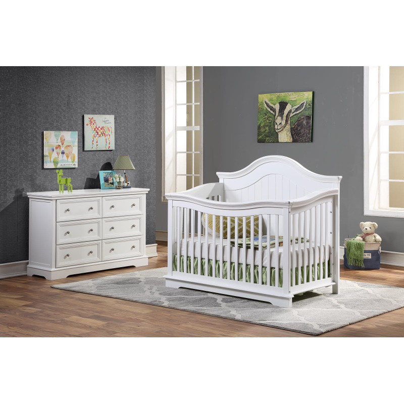 Concord - Brooklyn Convertible Crib - White