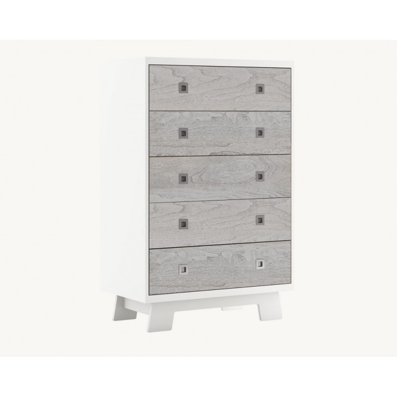 Dutailier - Pomelo 5 Drawer Dresser - Rustic Grey