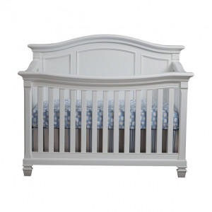 Lil Angels- Victoria Convertible Crib - White