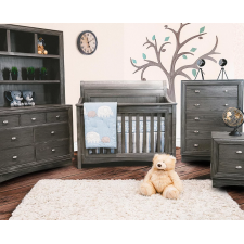 Lil Angels - Preston Crib & Double Dresser - Granite