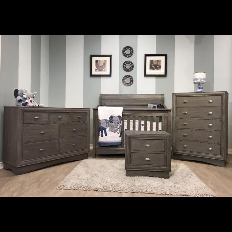 Lil Angels - Preston Collection Crib & Double Dresser - Granite