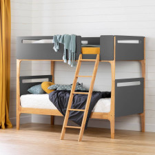 South Shore - Bebble Bunk Bed - Charcoal