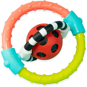 Sassy - Spin & Chew Ring Rattle