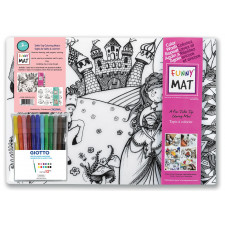 Funny Mat - Set of 2 - Reusable Table Top Coloring Mat - Assorted Choices