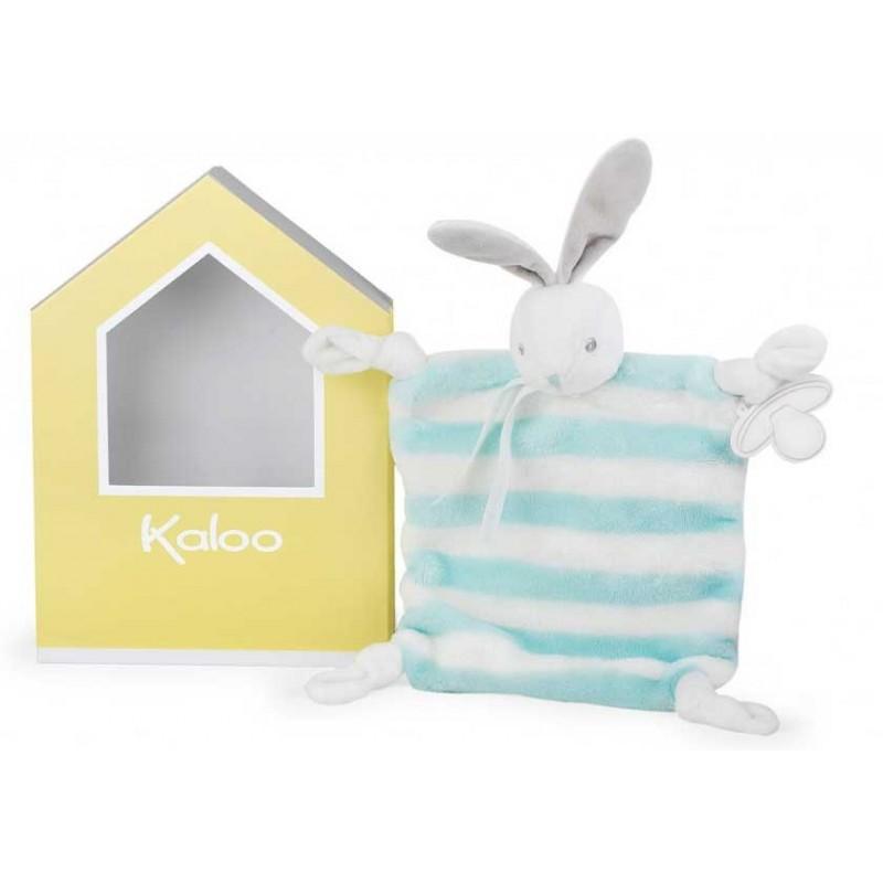 Kaloo - Bébé Pastel - Lapin Aqua Doudou