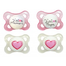 MAM - Love & Affection Silicone Pacifiers 0m+ (French Text)