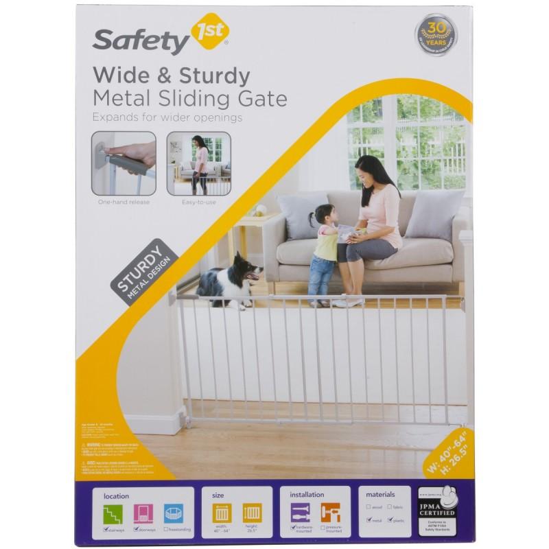 Safety 1st - Barrière de sécurité en metal Wide & Sturdy
