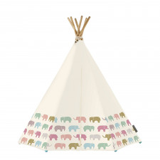 Around The Crib - Rainbow Elephant Tent With LED And Mat