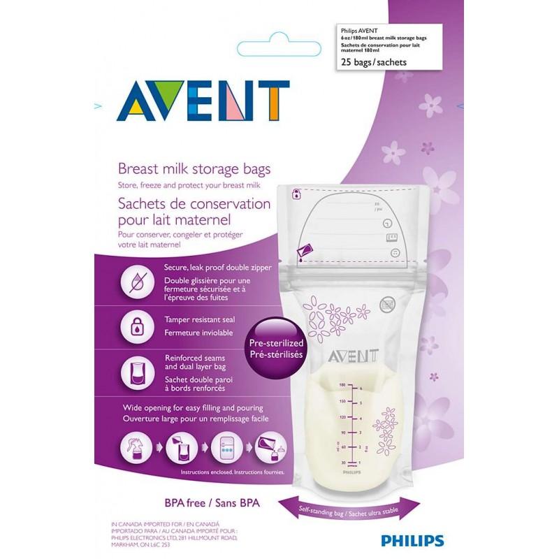 Avent - Sachets Conservation Lait Maternel