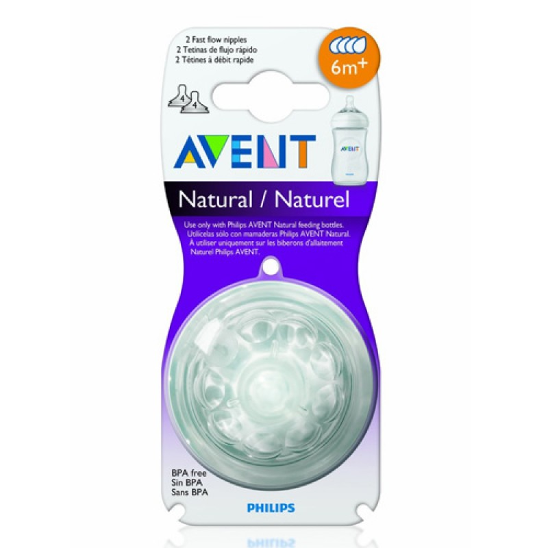 Avent - Natural - 2 Nipples