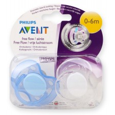 Avent - Natural - Free Flow Pacifiers 0-6m 2pk