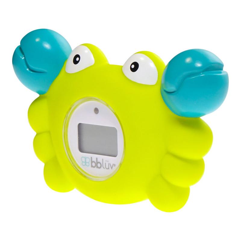 Bblüv - Thermomètre de bain et jouet 3-en-1 - Kräb