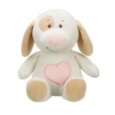 Ganz - Jouet en peluche blanc et rose 'Puppy Love'