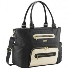 JJ Cole - Diaper Bag Caprice - Onyx & Ivory
