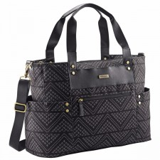 JJ Cole - Diaper Bag Arrington - Black Aztec