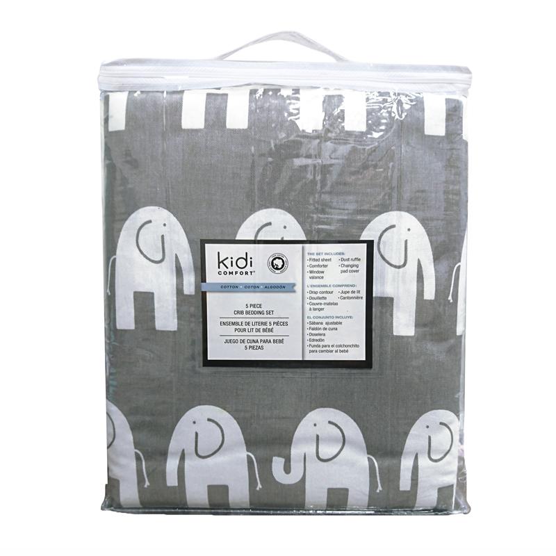 KidiComfort - Ensemble literie pour lit bébé - 5 morceaux