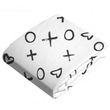 Kushies - Draps Contour en flanelle matelas à langer 1'' - Collection blanc et noir