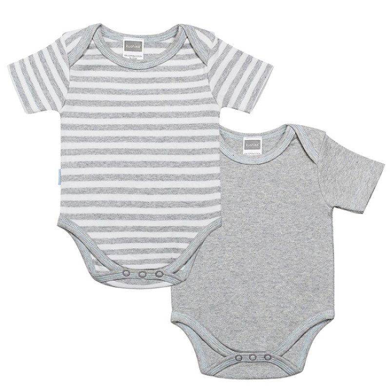 Kushies - Classics Bodysuit 2 Pack (Blue/Grey)