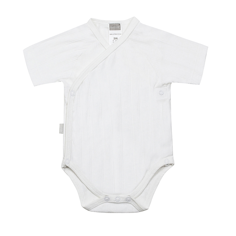 Kushies - Classics Short Sleeve Bodysuit - White