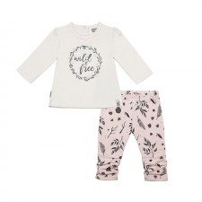 Kushies - Ensemble de chandail et legging Into The Woods - Fleurs