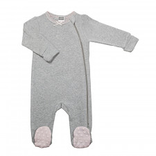 Kushies - Classics Side Zip Sleeper Girl - Grey