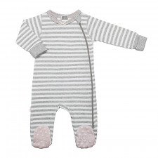 Kushies - Classics Side Zip Sleeper Girl - Grey Stripe