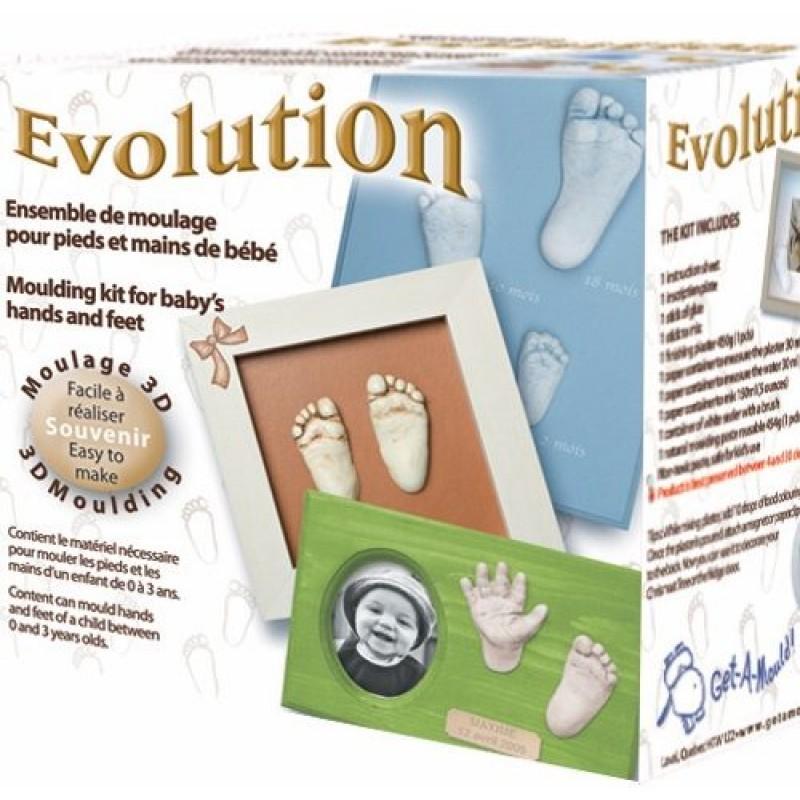 Laissez-vous Mouler - Ensemble de Moulage Pour Pieds et Mains de Bébé - Evolution