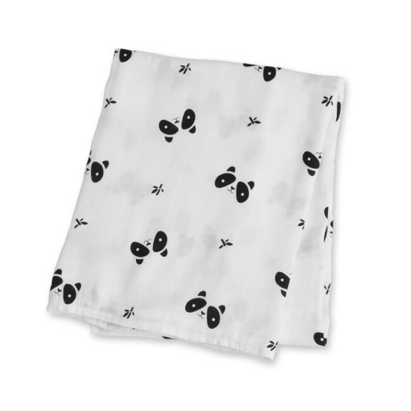 Lulujo - Couverture en bambou Collection Moderne - Panda