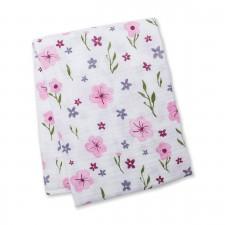 Lulujo - Couverture en Mousseline Coton - Beau floral
