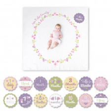 Lulujo - Baby's First Year Blanket & Card Set - Isn't She Lovely